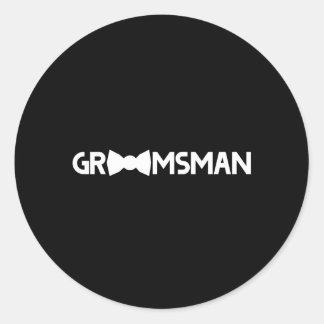 Groomsman Classic Round Sticker