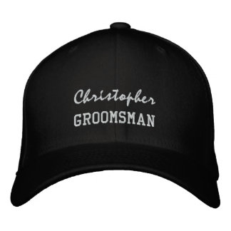 GROOMSMAN Custom Name V004 Embroidered Baseball Hat