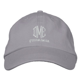 Groomsman Custom Wedding Monogram Baseball Cap