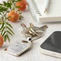 Groomsman Customizable Rectangle Keepsake Keychain