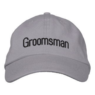 """Groomsman"" Embroidered Baseball Hat"