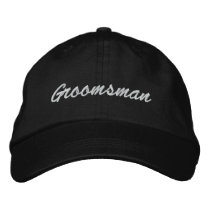 Groomsman Embroidered Hat