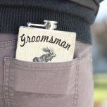 Groomsman Flask Vintage Moose