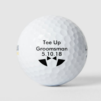 Groomsman Golf Ball Invite