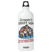Groomsman Groom's Squad Aluminum Water Bottle