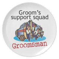 Groomsman Groom's Squad Melamine Plate