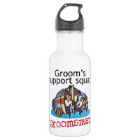 Groomsman Groom's Squad Stainless Steel Water Bottle