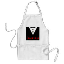 Groomsman In Tux Adult Apron