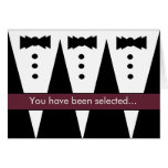 Groomsman Invitation - Funny - Customizable Greeting Cards