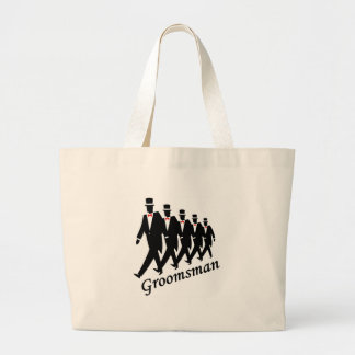 Groomsman (Men) Large Tote Bag