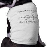 GROOMSMAN Monogram Dog Shirt