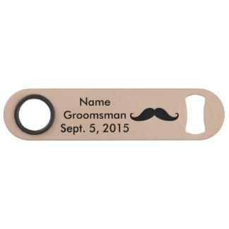 Groomsman Mustache Hat & Suit Speed Bottle Opener