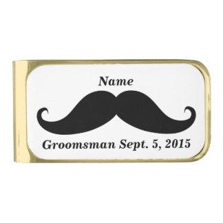 Groomsman Mustache Money Clip