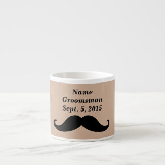 Groomsman Mustache, Top Hat and Suit Espresso Mug