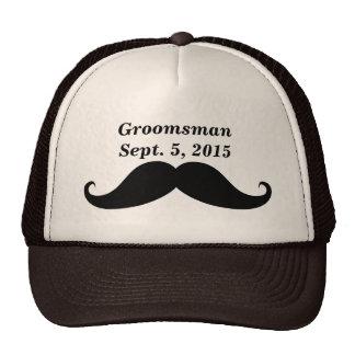 Groomsman Mustache Truckers Hat