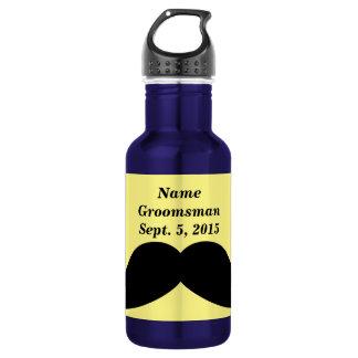 Groomsman Mustache Water Bottle
