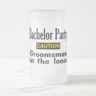 Groomsman On The Loose Frosted Glass Beer Mug
