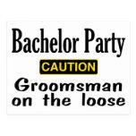 Groomsman On The Loose Postcard