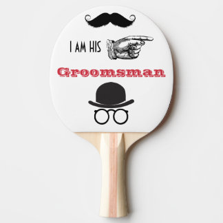 Groomsman Photo Props Hipster Mustache Beard Ping-Pong Paddle