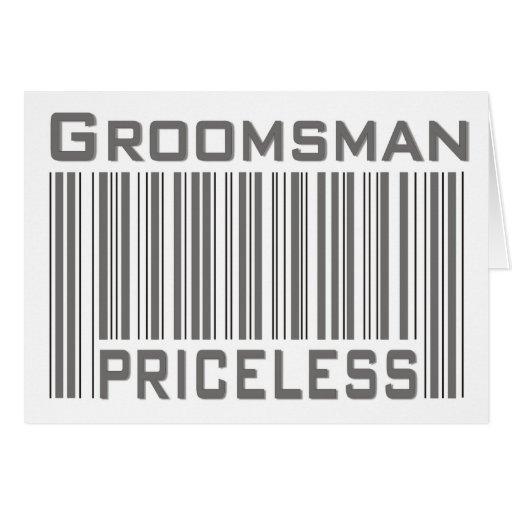 Groomsman Priceless Card