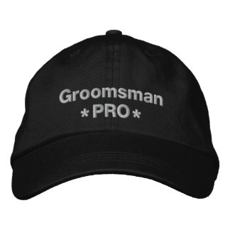 Groomsman Pro Embroidered Baseball Hat