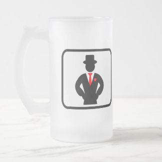Groomsman Pro Frosted Glass Beer Mug