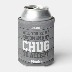 Bachelor Party Beer Holders SLIM Can Coolers Personalized Gifts for Groomsmen Bachelor Can Coolers Bach Bash Brew Crew 1AB 8.3 or 12oz