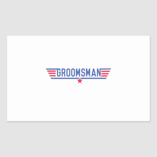 Groomsman Rectangular Sticker