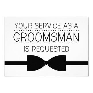 Groomsman Request | Groomsmen 3.5x5 Paper Invitation Card