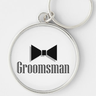 Groomsman Silver-Colored Round Keychain