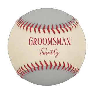 Groomsman Souvenir Baseball