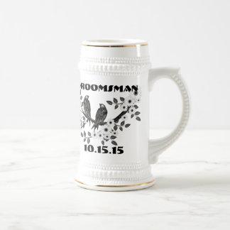 Groomsman Stein -Vintage Birds Coffee Mug