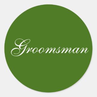 """Groomsman"" stickers"