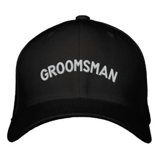 Groomsman text embroidered baseball hat