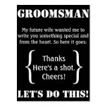 Groomsman Thank You Postcards