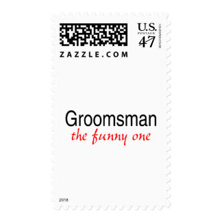 Groomsman The Funny One Postage