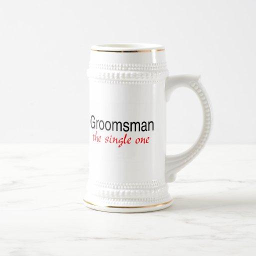 Groomsman (The Single One) 18 Oz Beer Stein