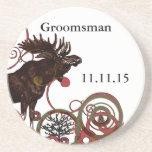 Groomsman Vintage Moose Coasters