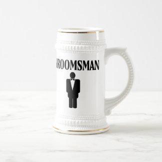 Groomsman Wedding Beer Stein Mug