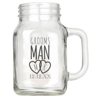 Groomsman Wedding Mason Jar