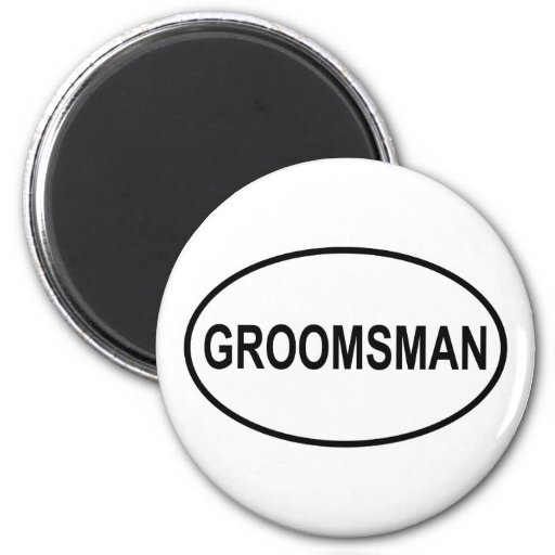 Groomsman Wedding Oval 2 Inch Round Magnet