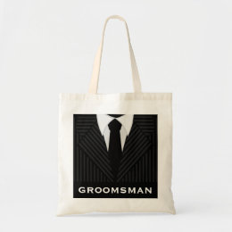 Groomsman Wedding Party Attendant Budget Tote Bags