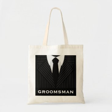 Professional Business Groomsman Wedding Party Attendant Budget Tote Bags