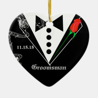 Groomsman Wedding Party Favor Christmas Ornament