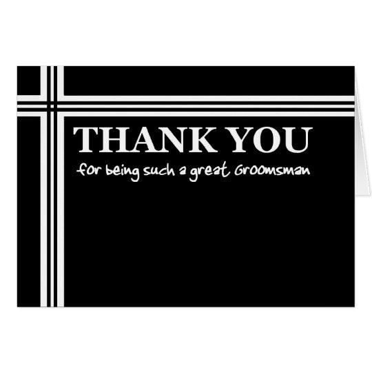 GROOMSMAN Wedding Thank You -Stripes Card