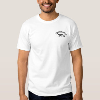 Groomsman with Date Embroidered T-Shirt