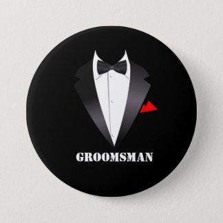 Groomsman with Tuxedo Shirt - Button