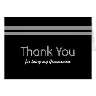 GROOMSMEN Bold Stripe Wedding THANK YOU Greeting Card