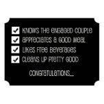 Groomsmen Funny Checklist 5x7 Paper Invitation Card