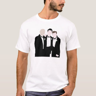 Groomsmen in Black Tie Pose for a Picture T-Shirt